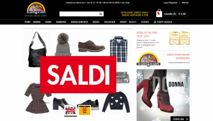 Scarpe&Scarpe negozio online e insegna dell'anno anche nel 2016